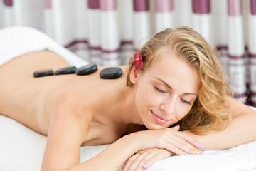 Spa Massage Hot Mineral Stone Treatment