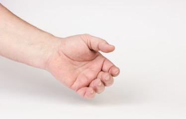 Hand man.