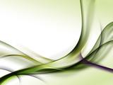 Fototapety zielone abstrakcyjne fale