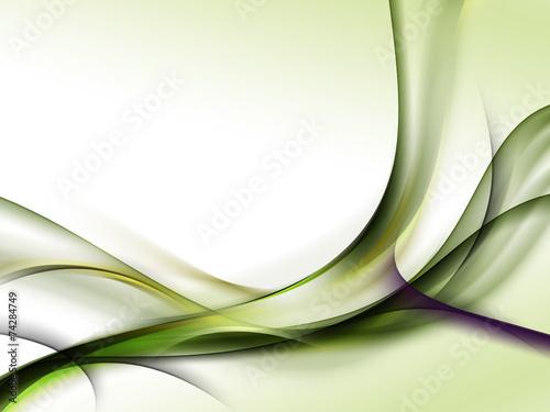 obraz lub plakat Zielone abstrakcyjne fale