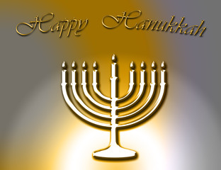 happy hanukkah jewish celebration