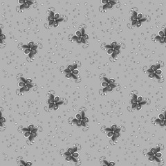 Seamless textile pattern with flowers
