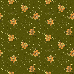 Seamless textile flowers pattern