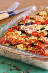 Gratin with vegetables