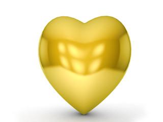 gold heart symbol