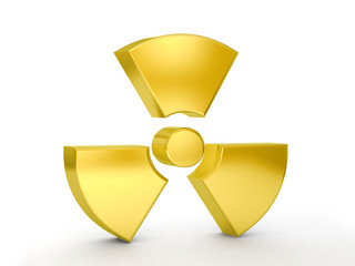 gold radiation symbol