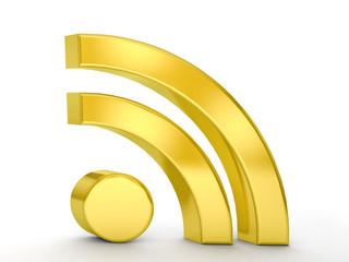 gold RSS symbol
