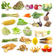 canvas print picture - set of vegetable on white background