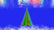 A Christmas tale.Colored Christmas tree.