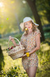 Attractive young woman in a summer fashion shot