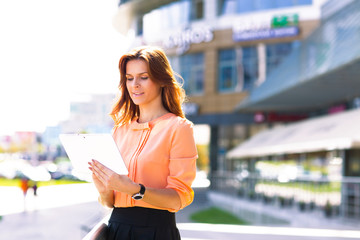 Portrait of pretty  businesswoman