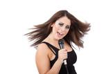 Fotoroleta Komputerowa kobieta pozująca nago