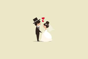 Hochzeit Illustration
