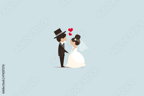 Hochzeit Illustration - 74287376