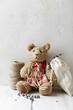 Still life with an old Teddy bear, a kitchen twine and lavender