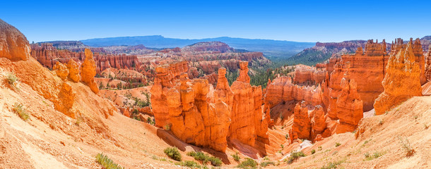 Panoramic view of Bryce Canyon National Park Utah, USA