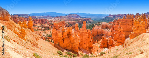 Panoramic view of Bryce Canyon National Park Utah, USA - 74287768