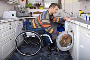 Wäsche waschen - Handicap