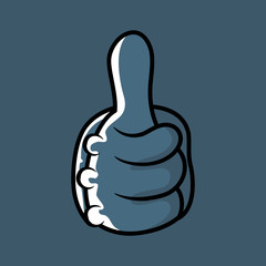 Vector illustration of Cartoon hands sign thumbs up