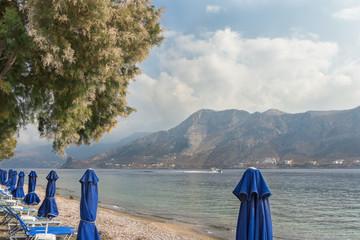 Mediterranean beach on Greek Telendos island