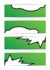Vector illustration of green Bubble talk