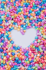 Colorful small star and heart frame