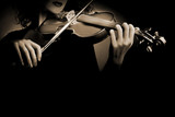 Fototapety Violin violinist closeup isolated