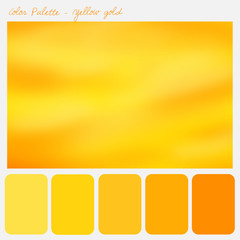 Color palette - Yellow gold
