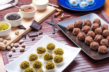 Praline di cioccolato casalinghi