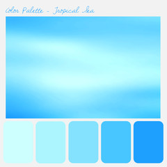 Color palette - Tropical Sea