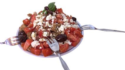 Traditional Greek dish Dakos from Crete island