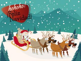 feliz navidad weihnachten weihachtskarte