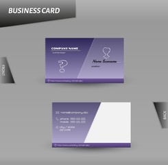 modern design business card vector template