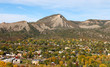 Durango, CO in the Autumn viewed from overhead - 74291761