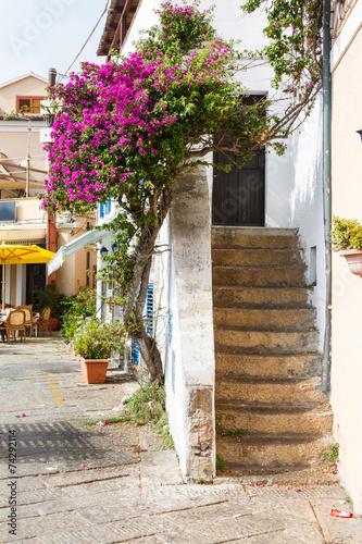 narrow streets of the mountain town © miklyxa