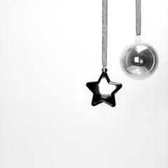 Decorazioni Natalizie in bianco e nero