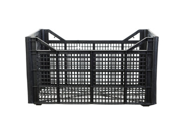 Black fruits and vegetable plastic crates