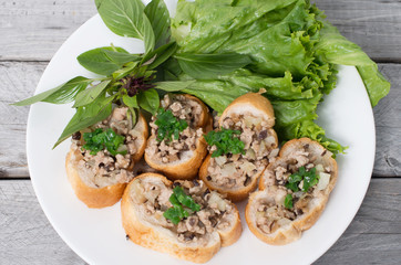 Vietnamese steamed bread with pork and chopped green onion - ban
