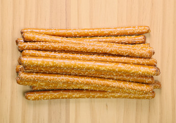Pile of Pretzel Sticks