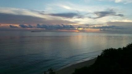 Sunrise by the beach