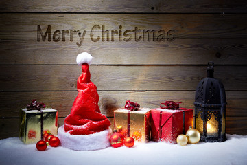 Nice christmas decoration with text