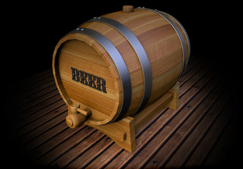 Old barrel of beer gallons