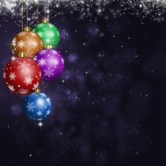Christmas Balls Holiday Greeting Card