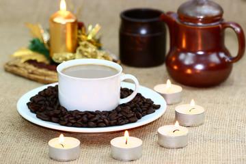 The festivity of coffee drinking