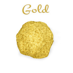 Gold nugget - 3d Render