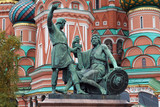 Fototapeta The Monument to Minin and Pozharsky, Moscow