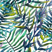 Feuilles motif abstrait fond d'écran aquarelle