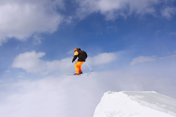 Extreme Jumping skier