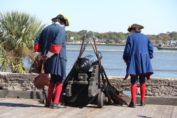 historical performance in Castillo de San Marcos
