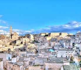View of Matera, Italy, UNESCO